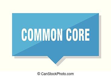 common core price tag - common core blue square price tag