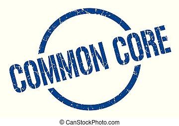 common core stamp - common core blue round stamp