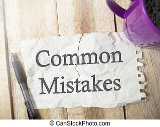 Common Mistakes, Motivational Words Quotes Concept - Common ...