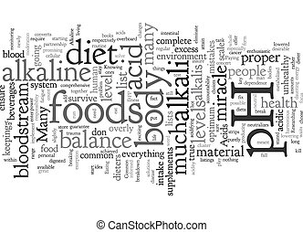 Common mistakes on the pH miracle diet text background ...