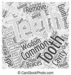 Common Oral Health Problems in Adolescents Word Cloud Concept