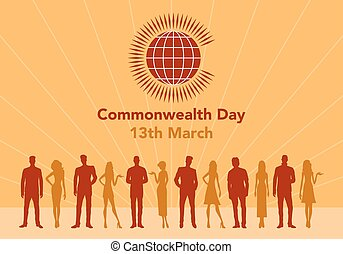 Commonwealth Day illustration - Vector illustration of the...