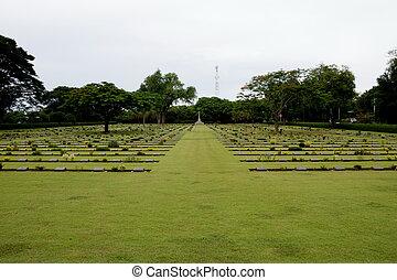 commonwealth, gräber, friedhof, thailand, kriegsbilder, kanchanaburi