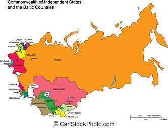 commonwealth, indépendant, districts, administratif, etats
