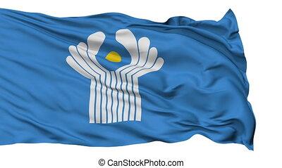 commonwealth, indépendant, etats, drapeau, isolé