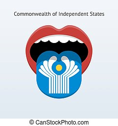 Commonwealth of Independent States language. Abstract human...