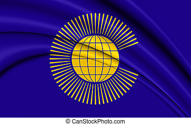Commonwealth of Nations Flag. 3D Illustration.