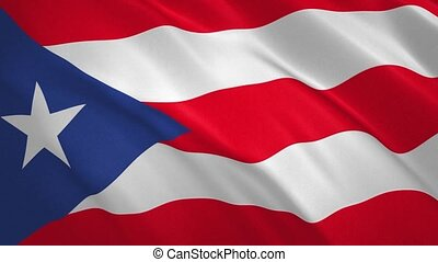 Commonwealth of Puerto Rico - Waving Flag Video Background FullHD