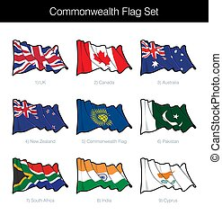 Commonwealth Waving Flag Set. The set includes the flags of...