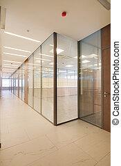 commun, bâtiment bureau, intérieur
