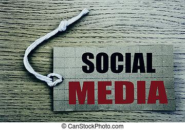 communauté, étiquette, business, espace, papier, social, bois, fond, vente, media., média, copie, coût, ligne, vendange, concept, écrit