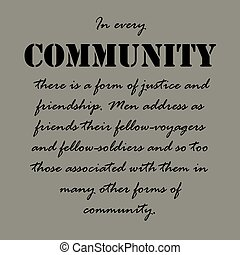 communauté, chaque, aristotle, there..., quotes.