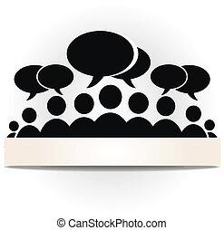communauté, forum, social