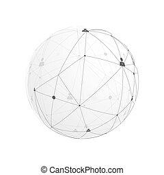communicatie, abstract, globaal