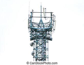communicatie, antenne, toren