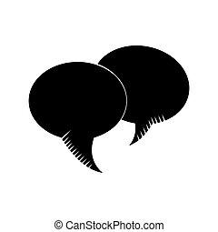 communicatie, bel, toespraak, dialoog, pictogram