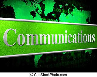 communicatie, computer, indiceert, globale mededelingen, en, kletsende