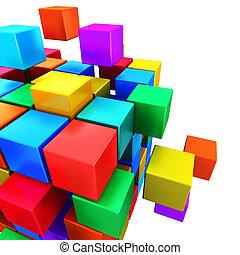 communicatie, concept, internet zaak, teamwork