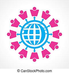 communicatie, concept, netwerk