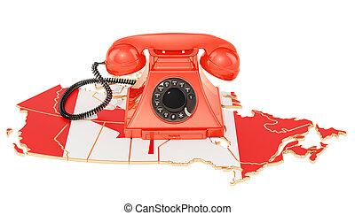 communicatie, diensten, in, canada, 3d, vertolking