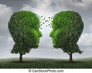 communicatie, en, groei