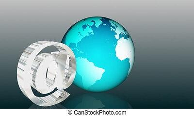 communicatie, globaal, email