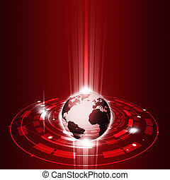communicatie, globaal, technologie