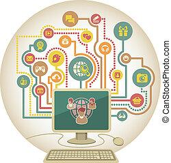 communicatie, medi, online, sociaal