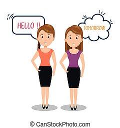 communicatie, mensen, toespraak, klesten