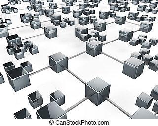 communicatie, netwerk, middelen, globale mededelingen, en, communiceren