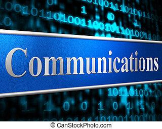 communicatie, netwerk, optredens, globale mededelingen, en, het communiceren