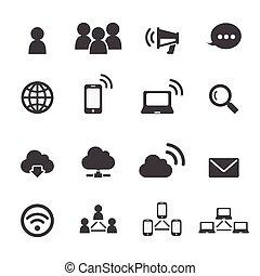 communicatie, netwerk, pictogram