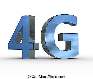 communicatie, symbool, draadloos, 4g, technologie, 3d