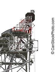 communicatie toren, met, antennes