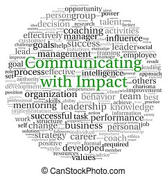 Communicating concept in word tag cloud - Communicating with...