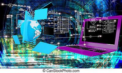 communicatio, technologický, stvoření, silný, internet jet...