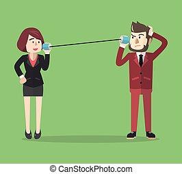 communication, étain, business
