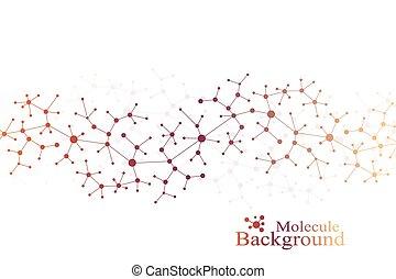 communication., χημεία , dna , illustration., μόριο , ...