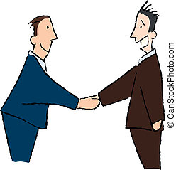 Communication 2 - business men shaking hands