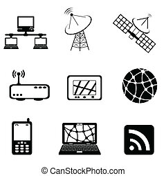 Communication and computer icon set - Communication,...