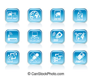 communication and computers icons