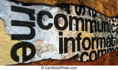 Communication and information grunge concept