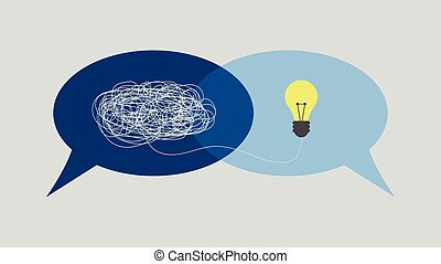 Communication and problem solving. talk concept speech bubbles Vector Illustration