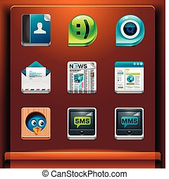 Mobile devices apps/services icons. Part 2 of 12