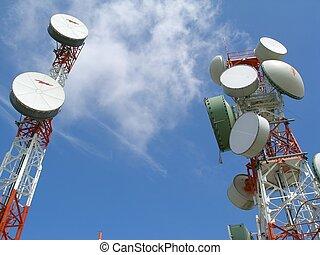 Communication Antenn - two communication antenas with an...