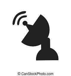 Communication antenna theme icon design.