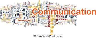 Background concept wordcloud illustration of communication