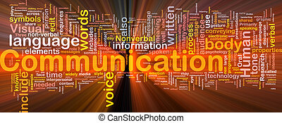 Communication background concept glowing - Background...