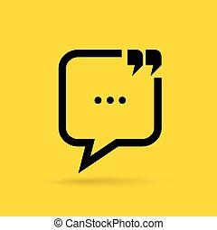 communication, bavarder, icône