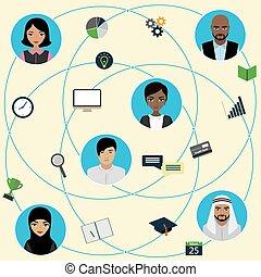 Communication between people using smart gadgets